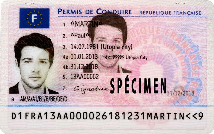 Numéro de permis de conduire NEPH (Numéro d'Enregistrement Préfectoral Harmonisé)